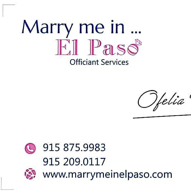 Marry Me In El Paso