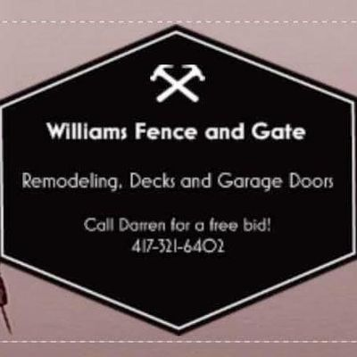 Avatar for Williams Fence and Gate El Dorado Springs, MO Thumbtack