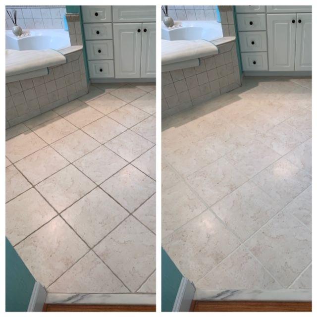 Clean and Color Seal Bathroom Floor