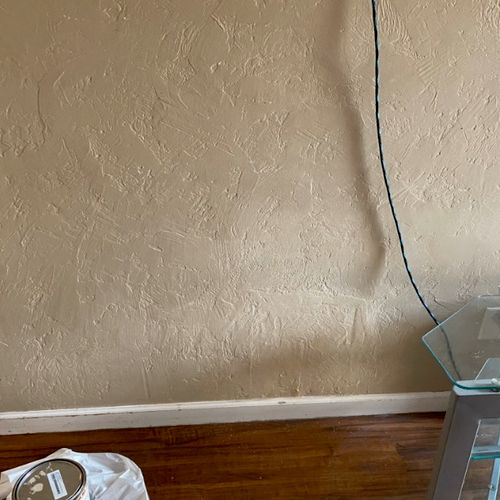 This is a drywall patch where I matched paint and texture. Can you even spot it?