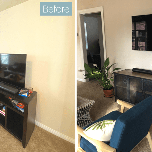 Boosted the style of this living room with some furniture recommendations