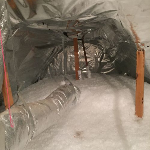 Radiant barrier and insulation