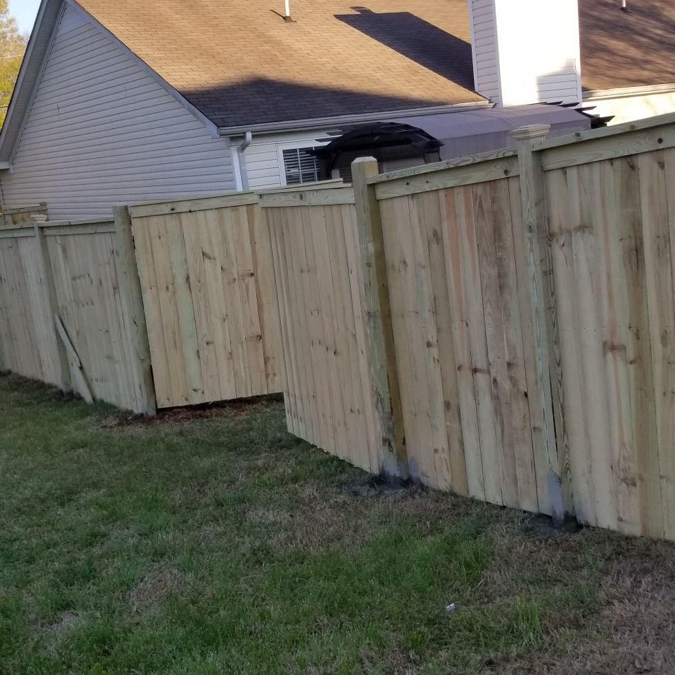 TD's  Fencing and Hardwood floor, junk removal