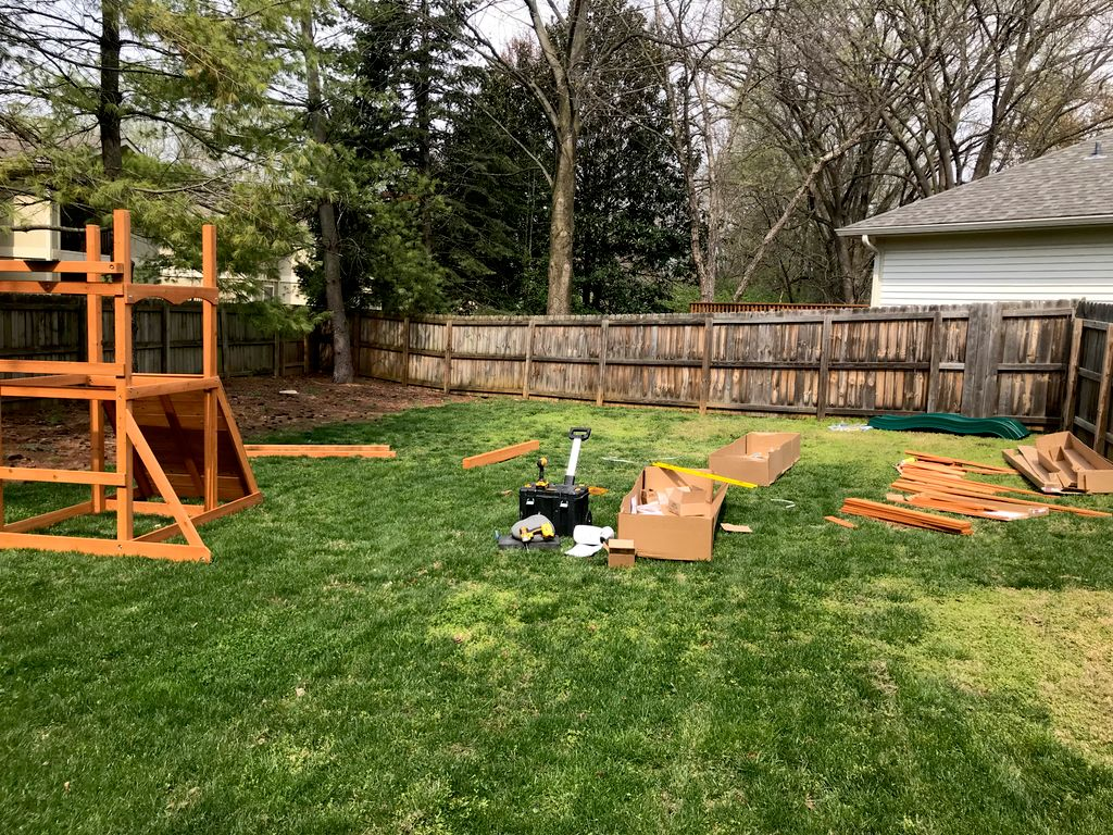 Cedar Swing Set