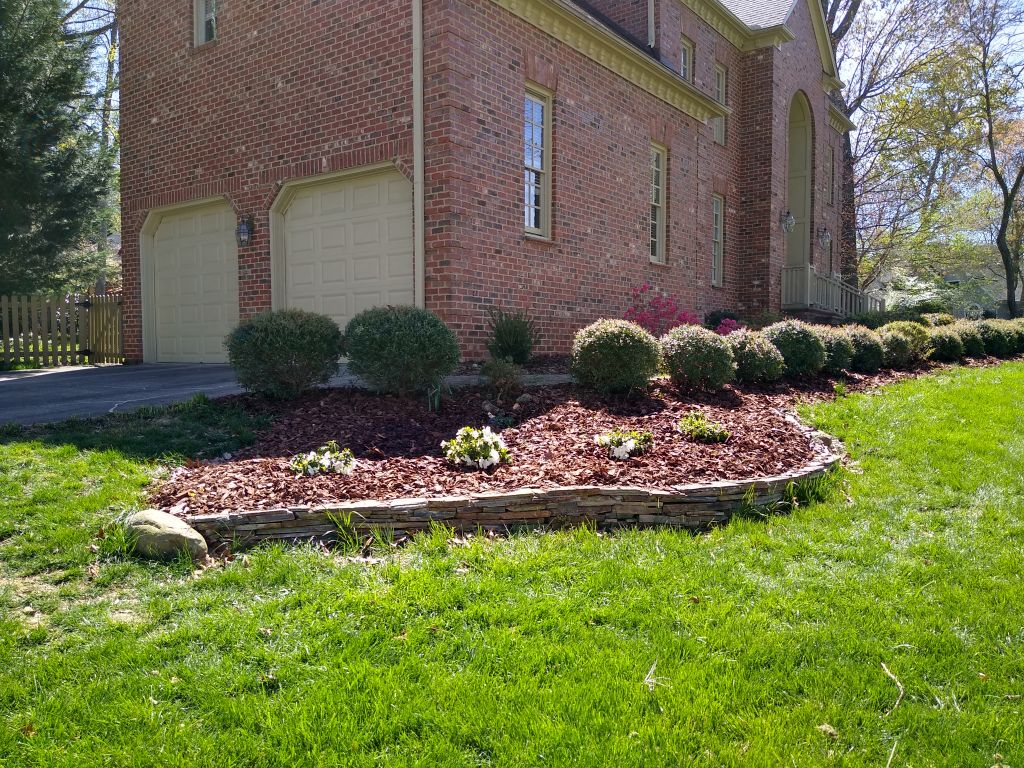 Landscaping and mulching