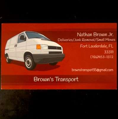Avatar for Brown transport Fort Lauderdale, FL Thumbtack