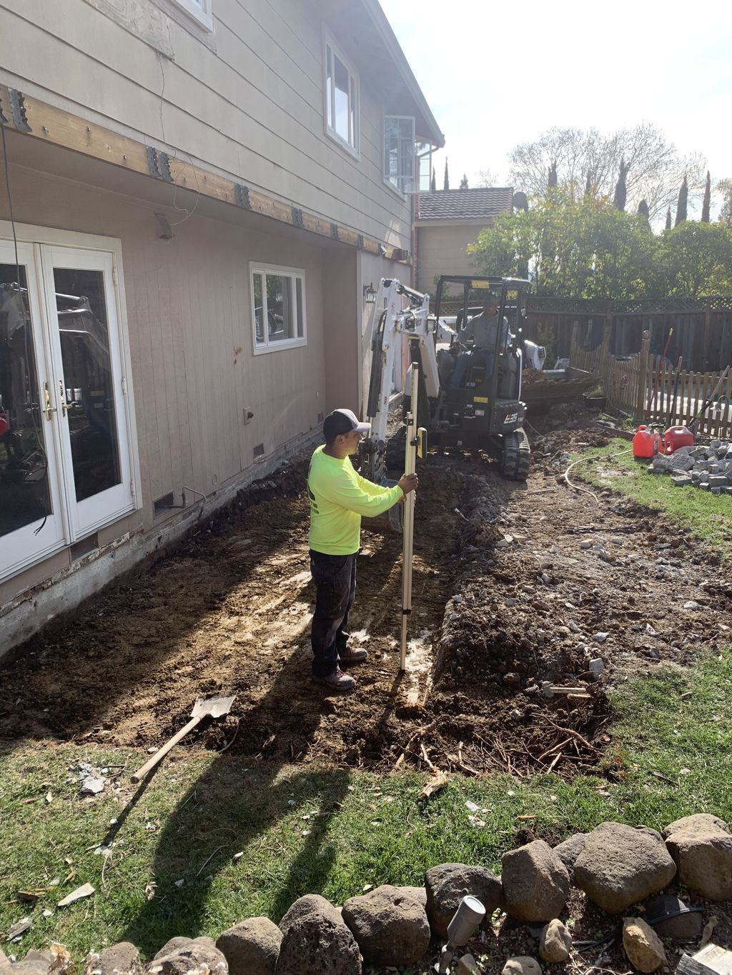 Excavation for new addition