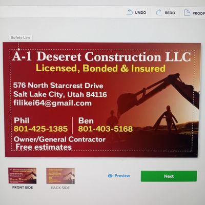 Avatar for A-1 Deseret Construction,  LLC Salt Lake City, UT Thumbtack