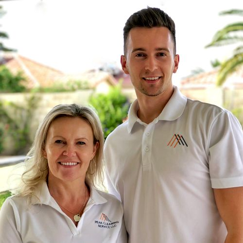 Learn more about our team on our website! Owners Dorothy and Patryk run the daily operations of Peak Cleaning.
