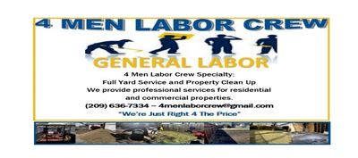 Avatar for 4 Men Labor Crew ( General Labor) Stockton, CA Thumbtack
