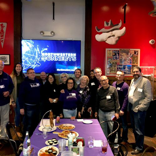 Some Wildcat friends at a LV Northwestern University Alumni group 2019