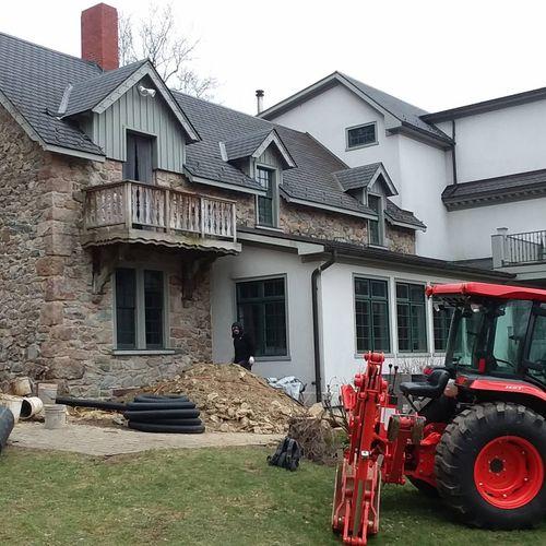 working around a 1920 Farmhouse
