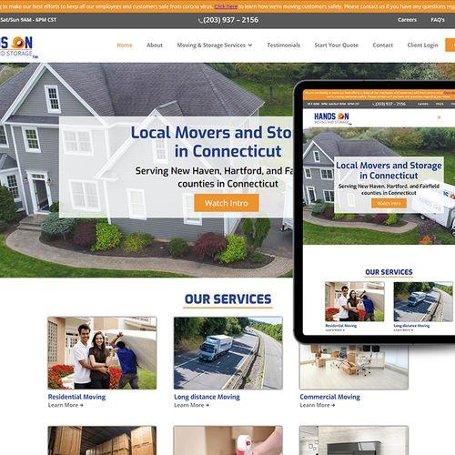 Hands on Moving - Website Design