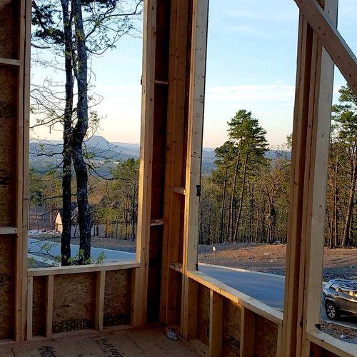 Pinnacle Mountain views under construction