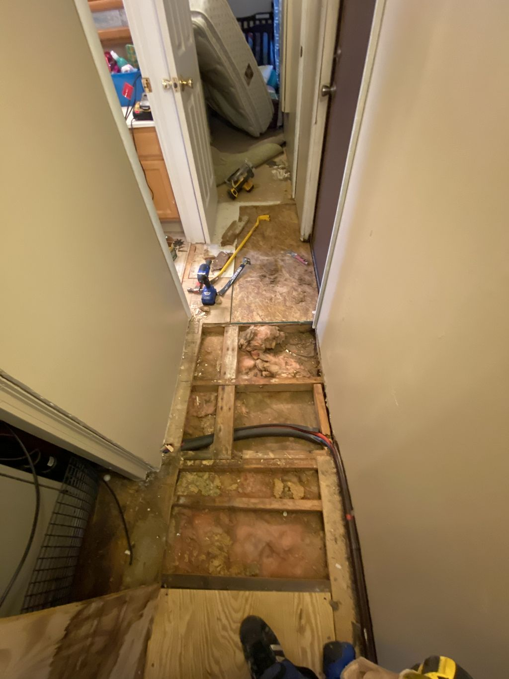 REPLACED BBOARD wNEW OSB New laminate in LR-Hwy and Cpt in 2 Br