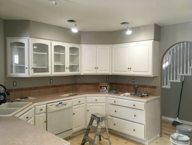 Painting Cabinets is like a whole new kitchen