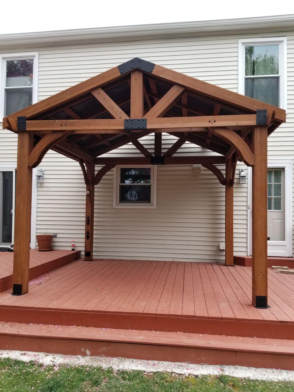 Cedar Gazebo Built On Existing Deck
