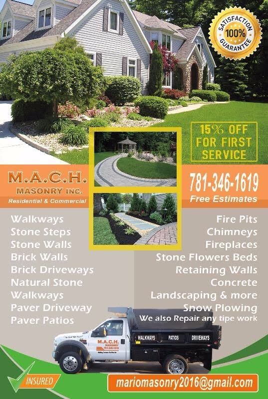 M.A.C.H Masonry  constructing in landscaping