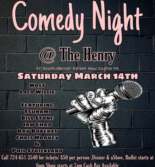 The Henry Restaurant dinner and comedy show