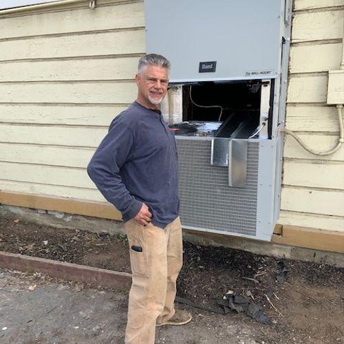 Doug finishing up Bard install