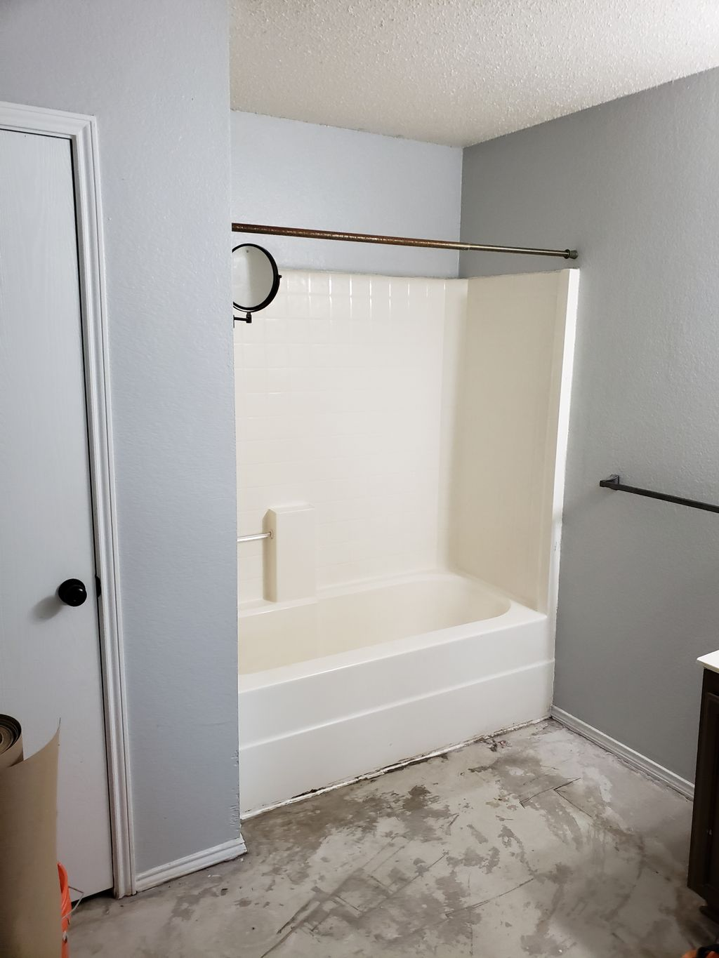 Light tub to shower conversion