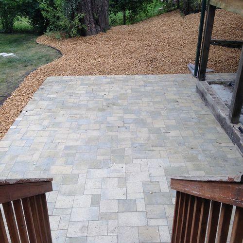 Willow Creek slate stone patio