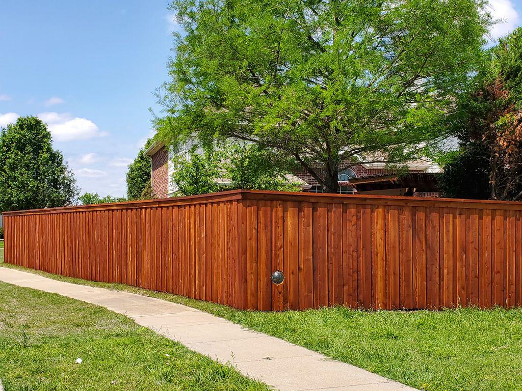 Beautiful 6ft tall cedar wood fence