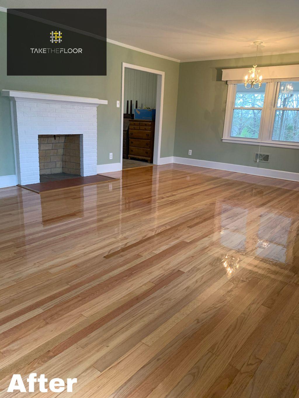 Hardwood floor sand and refinish 850 sqft
