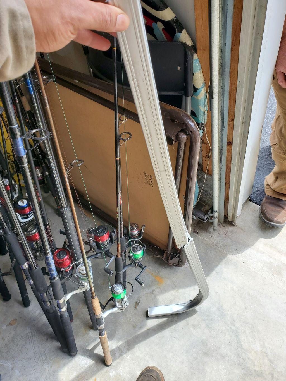 Railing repair on boat