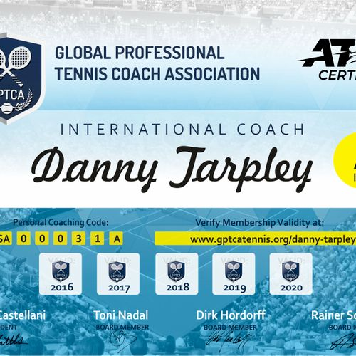 ATP Certified Master Professional, Only one in Atlanta, 17 in the USA