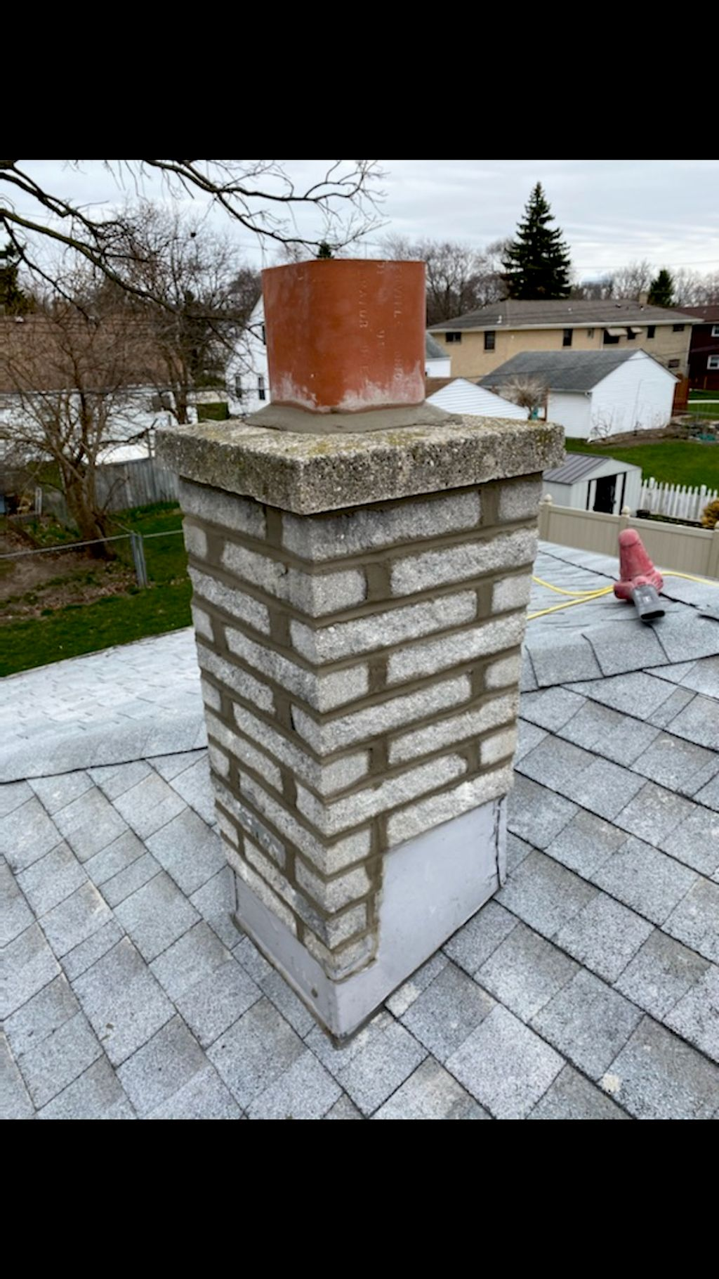 Chimney tuck pointing and flue replacement