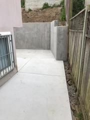 New Retaining Wall and Concrete