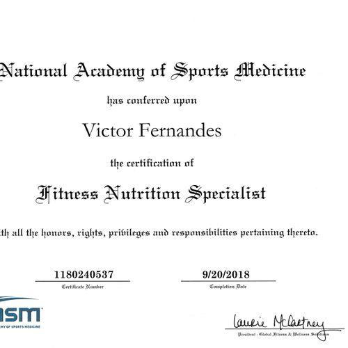 NASM - Fitness Nutrition Specialist