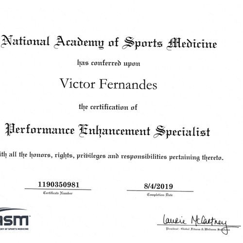 NASM - Performance Enhancement Specialist