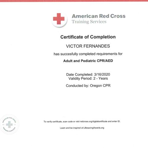 CPR-AED Certificate