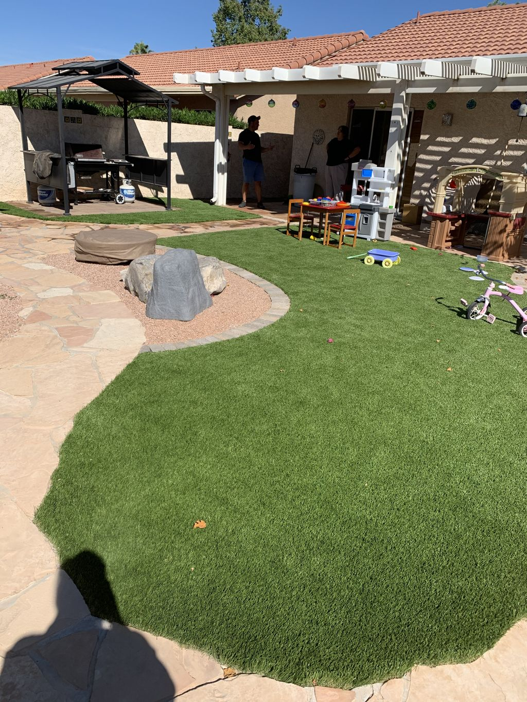 Turf and paver boarder