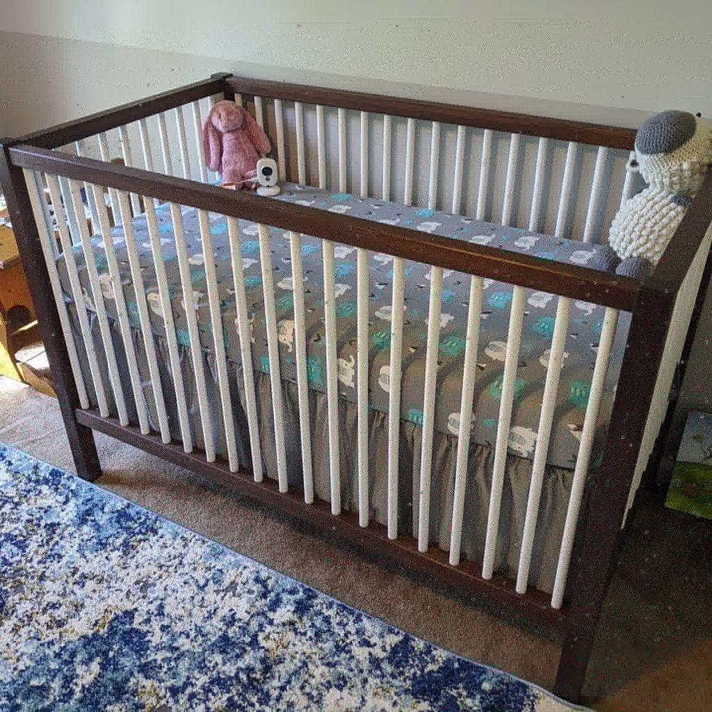 Custom crib built to latest safety standards