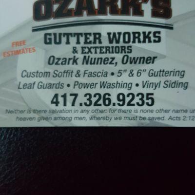 Avatar for Ozark's Gutter Work's LLC