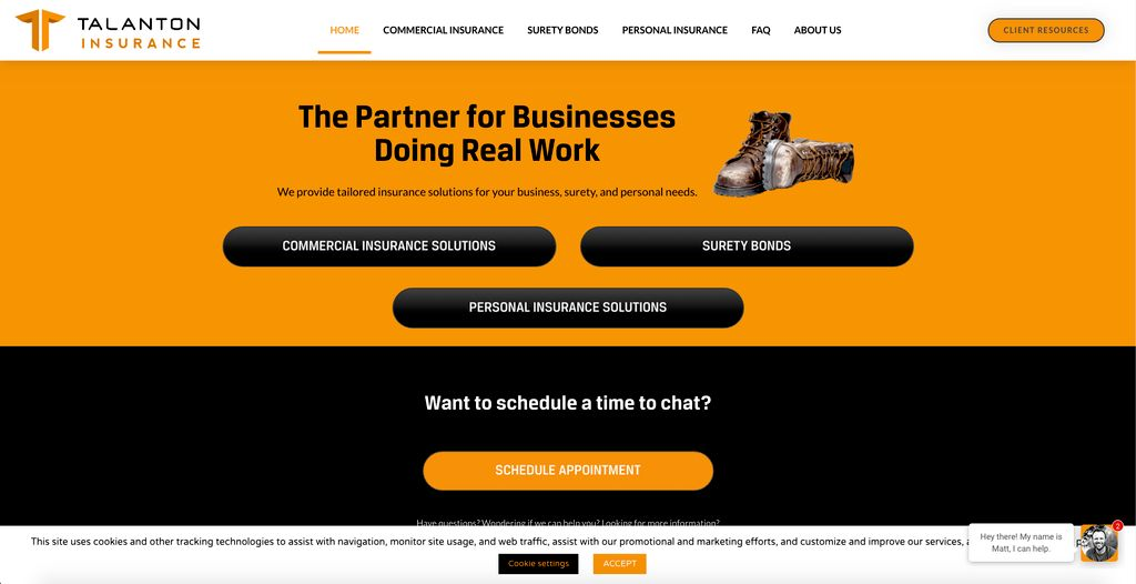 Insurance Website with Integrations