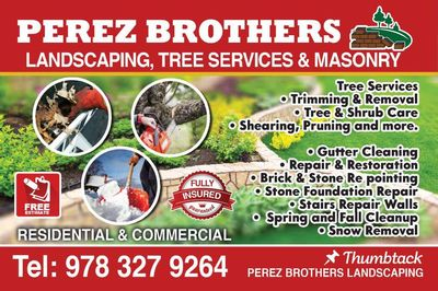Avatar for PEREZ BROTHERS LANDSCAPING & MASONRY TREE SERVICE