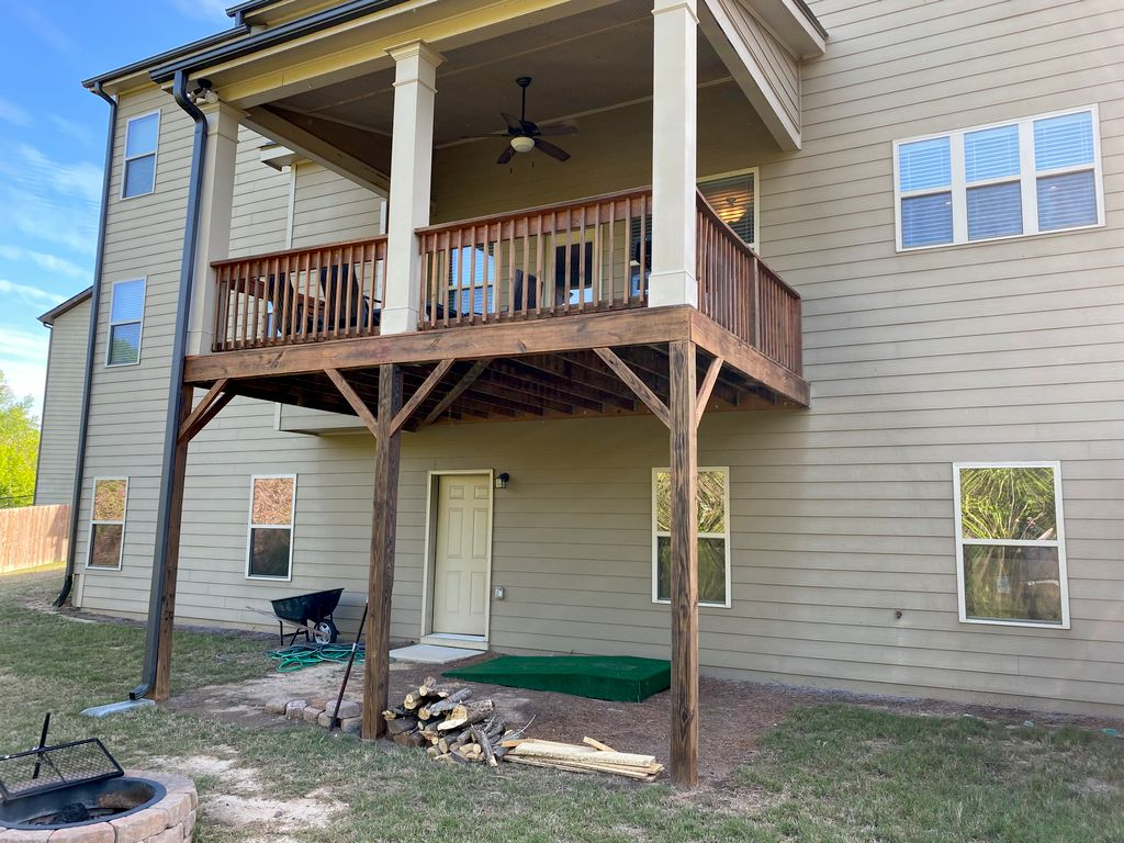 Deck addition with stairs