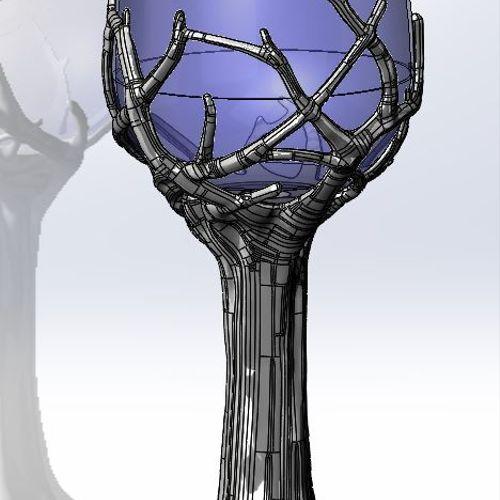 Wine glass base organic design
