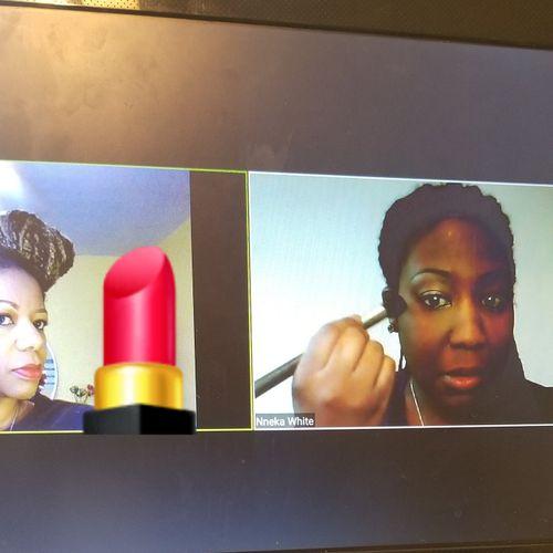 Virtual makeup lesson