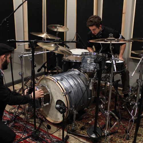 Recording drums for our first EP.