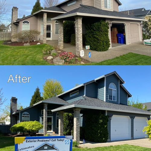 Before & After James Hardie Plank Siding Contractor Elite