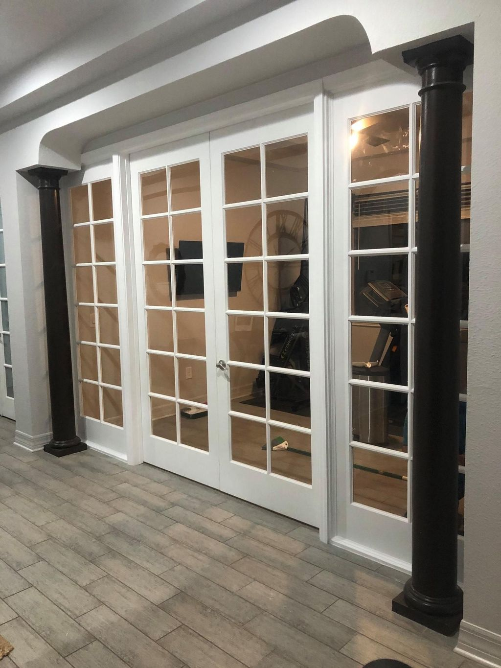 Wall Build and French Door Install
