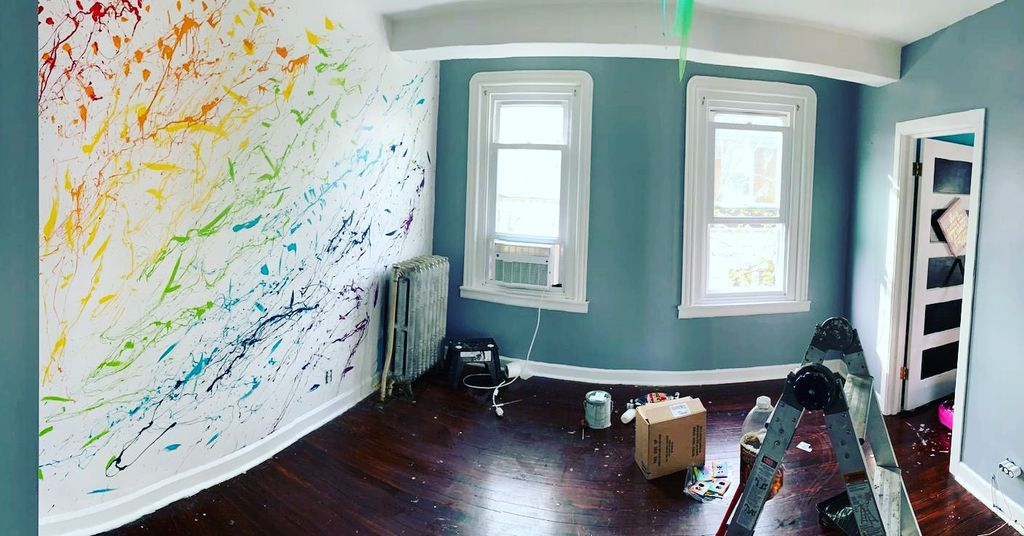 Colorful Accent Wall & Room Painting