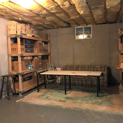 Basement - After Cleaned Out and Organized
