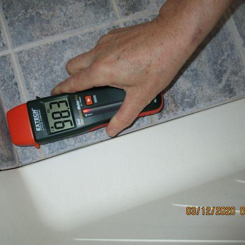 High moisture at tub