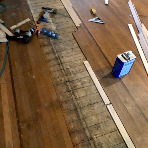 Before. We are repairing old floor